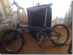 My Dahon Speed D7 and the luggage I brought it in