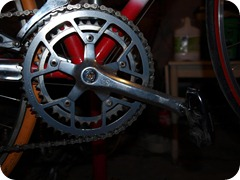 Old Crank on frame